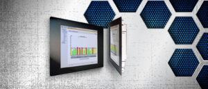 """Einbaumonitor mit 15""""-TFT-Display, mit resistivem Touchscreen, HF 1566-T"""